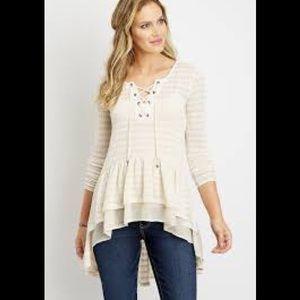 Maurices high low boho duster top